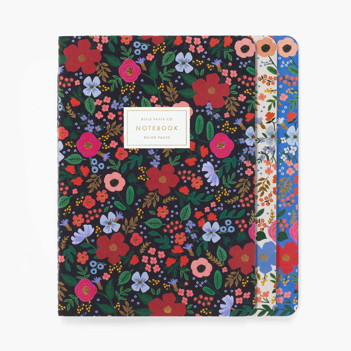 Rifle Paper Co. Rifle Paper - Wild Rose Stitched Notebooks, Set of 3