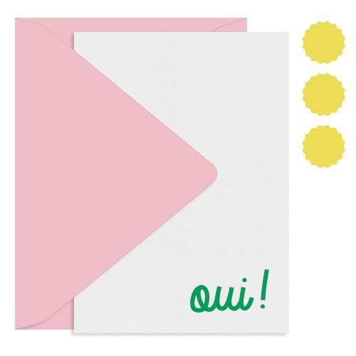 Inclosed Letterpress Co. Oui Writing Set, set of 12