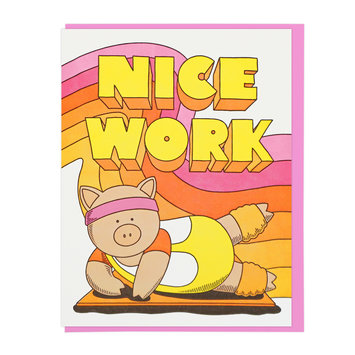 Lucky Horse Press - LHP Nice Work Aerobics Pig