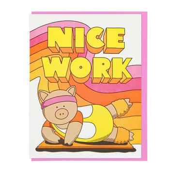Lucky Horse Press Nice Work Aerobics Pig
