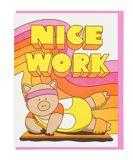 Lucky Horse Press - LHP Nice Work Aerobics Pig