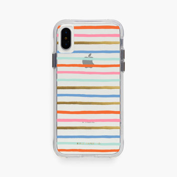 Rifle Paper Co. Clear Happy Stripe iPhone xs max case