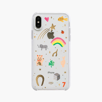 Rifle Paper Co. Clear Good Luck Charms iPhone xs max case