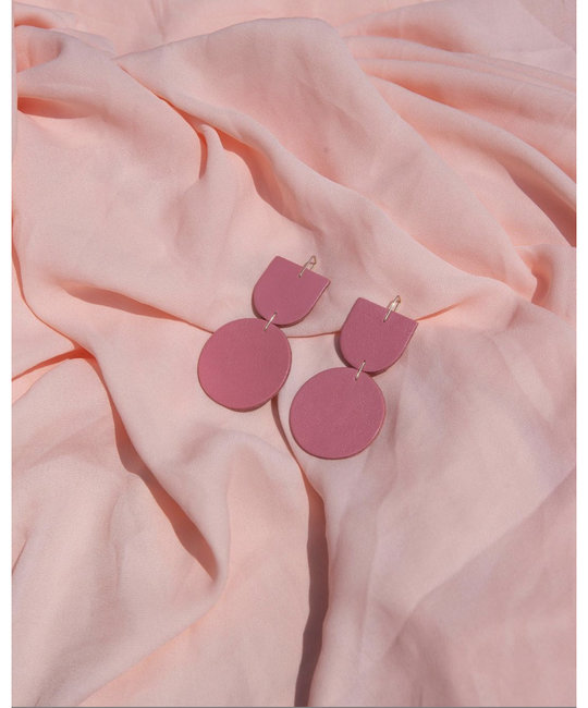 Dear Survivor Pink Mocu Earrings