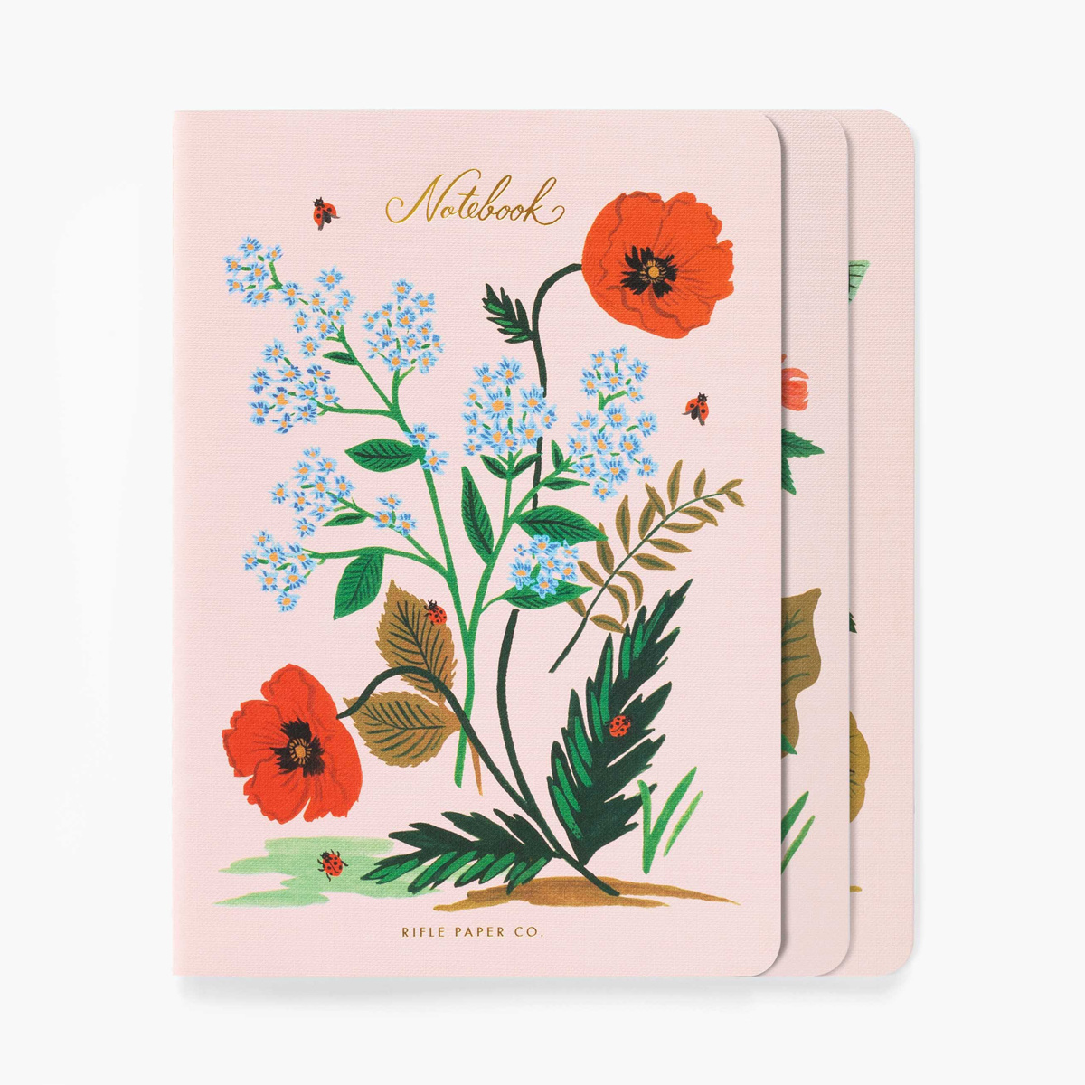 Rifle Paper Co Rifle Paper - Botanical Stitched Notebooks, Set of 3