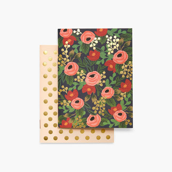 Rifle Paper Co - RP RP NBPO - Pair of Rosa Pocket Notebooks, Blank