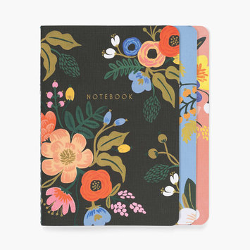 Rifle Paper Co. Rifle Paper Co - Lively Floral Stitched Notebooks, Set of 3