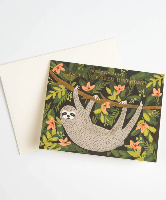 Rifle Paper Co Sloth Belated Birthday