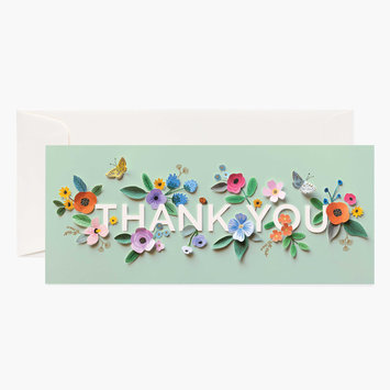 Rifle Paper Co - RP Cut Paper Thank You Card