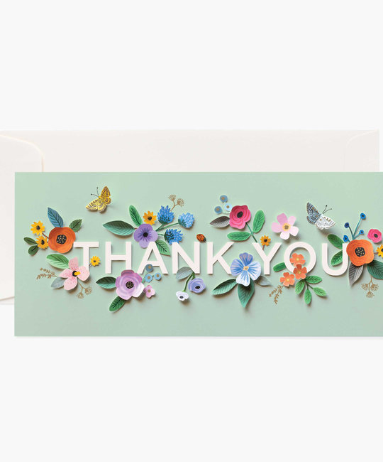 Rifle Paper Co Cut Paper Thank You Card