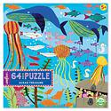 Eeboo - EE Ocean Treasure 64 Piece Puzzle