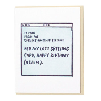 and Here We Are - AHW Email Birthday Card