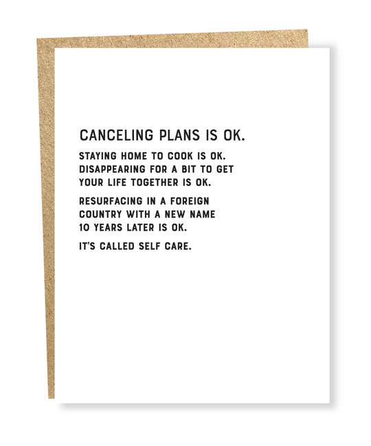 Sapling Press - SAP Canceling Plans Ok Card