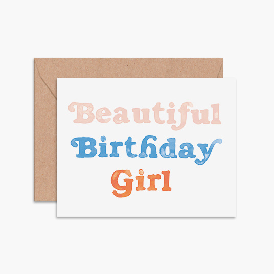 Daydream Prints Beautiful Birthday Girl
