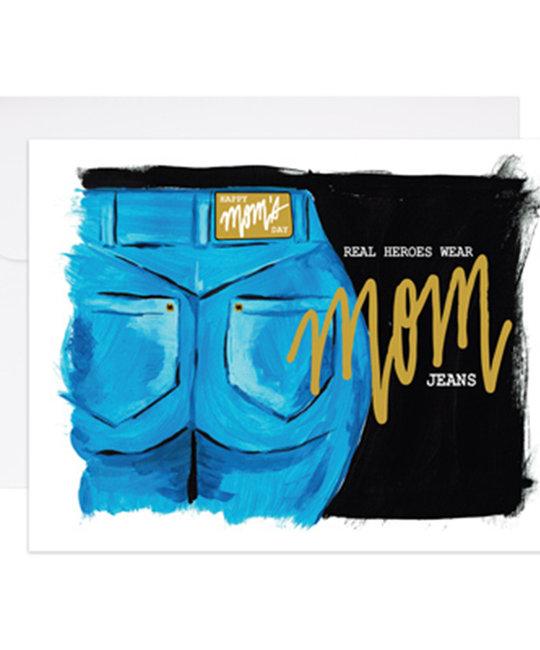 9th letterpress Mom Jeans