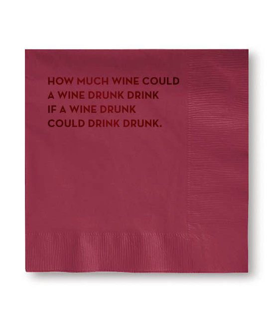 Sapling Press Wine Drunk Napkins