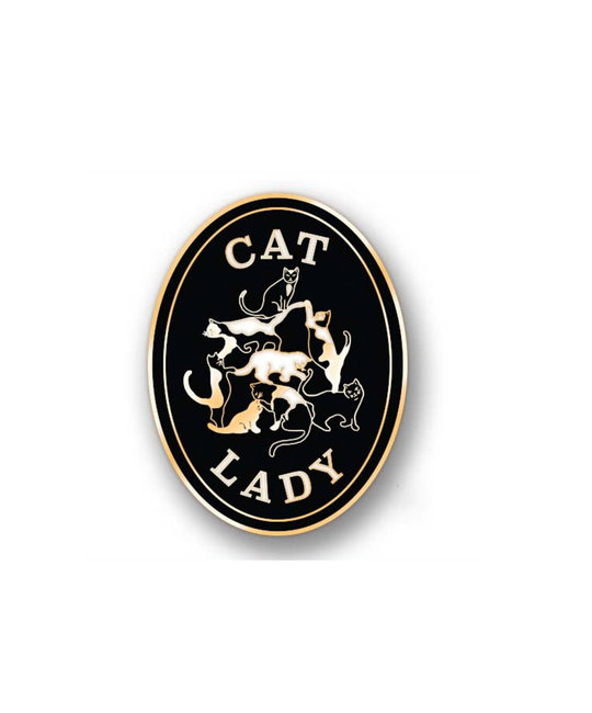 Antiquaria Cat Lady Pin