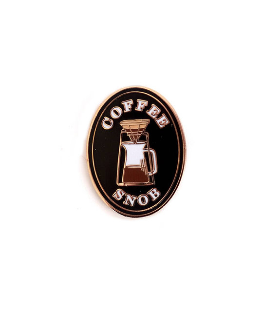 Antiquaria Coffee Snob Pin