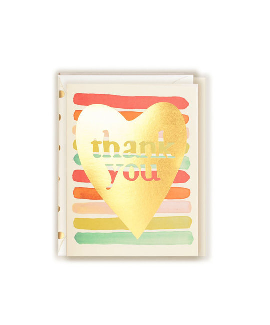 The First Snow - FIS Thank You Gold Foil Heart
