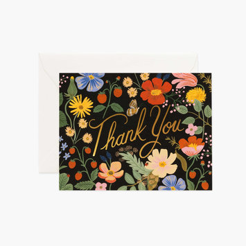 Rifle Paper Co - RP Strawberry Fields Thank You Card