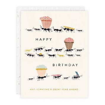 Seedlings - SED Happy Birthday Ants Card