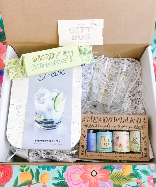 Gus and Ruby Letterpress - GR GR GB - Cocktail Hour Gift Box