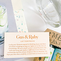 Gus and Ruby Letterpress Cocktail Hour Gift Box