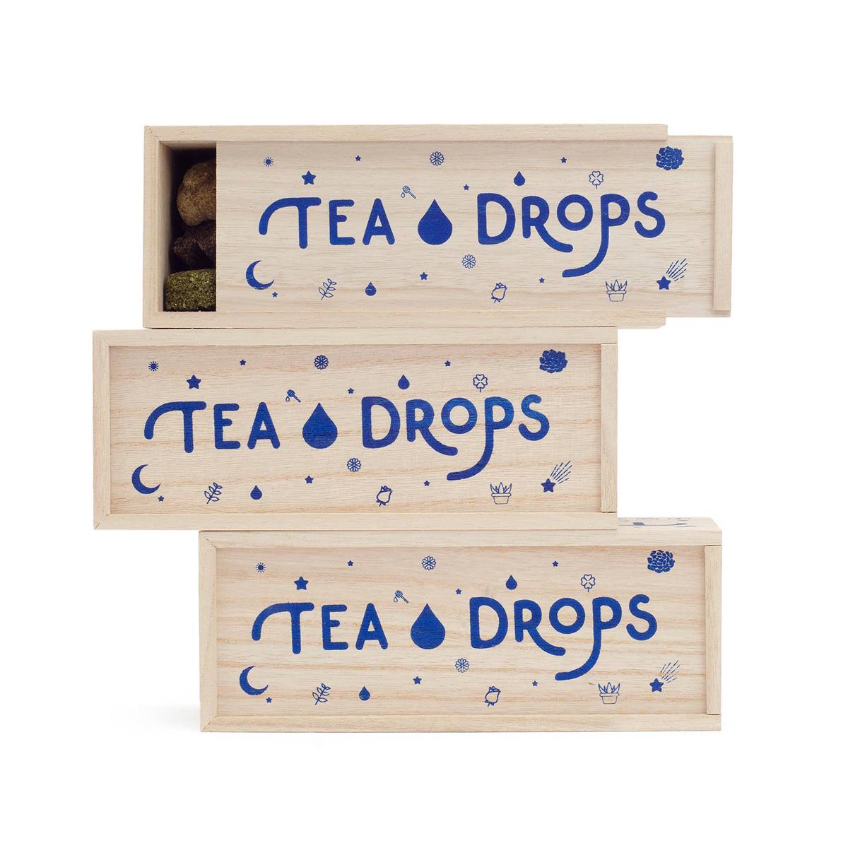 Tea Drops - TD Classic Tea Drops Assortment in Wooden Box