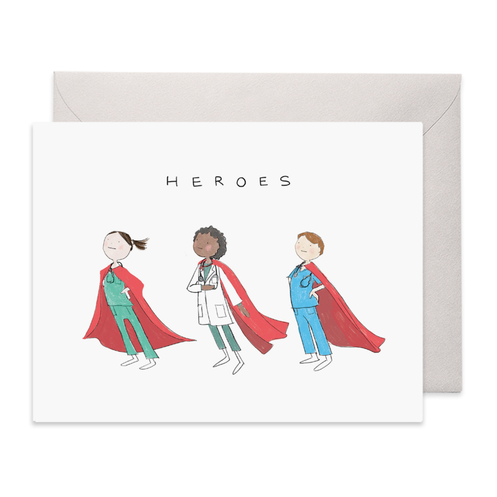 E. Frances Paper Studio Healthcare Heroes Card