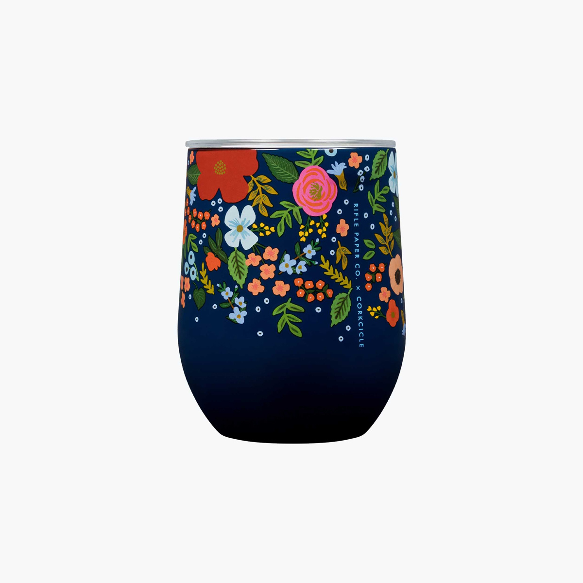 Corkcicle - CO Rifle Paper Co. x Corkcicle - Navy Wild Rose Stemless
