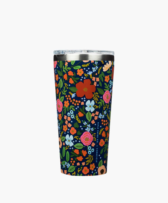 Corkcicle - CO Corkcicle x Rifle Paper Co.  - Navy Wild Rose Tumbler