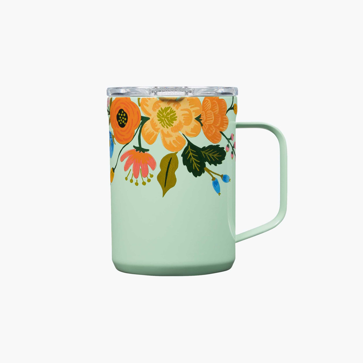 Corkcicle Corkcicle x Rifle Paper Co - Mint Lively Floral Mug