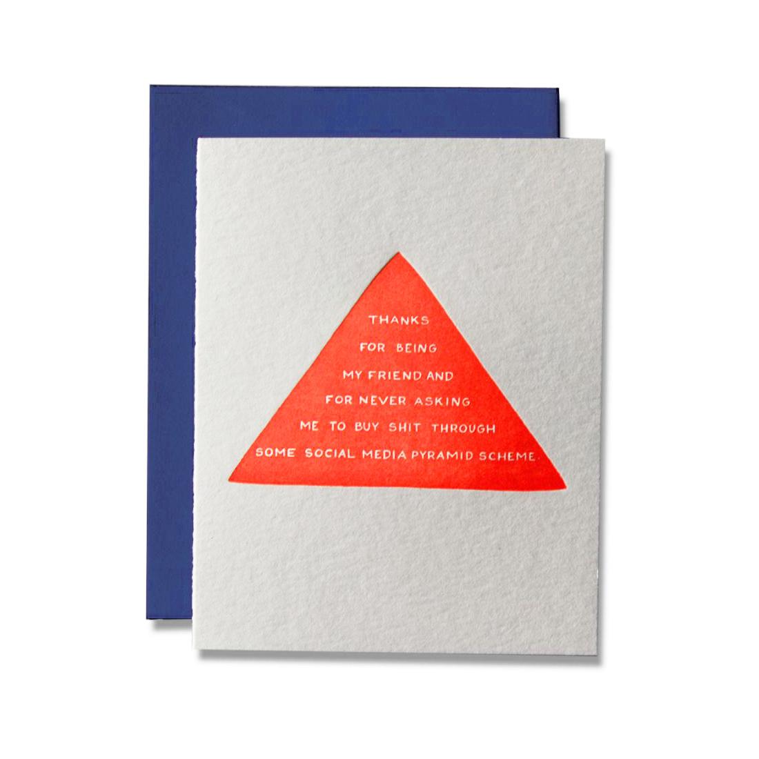 Ladyfingers Letterpress Social Media Pyramid Scheme