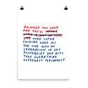 AdamJK Do What You Love Print, 8 x 10 inch