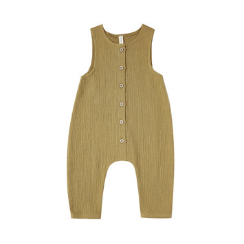 Quincy Mae Quincy Mae Woven Snap Jumpsuit