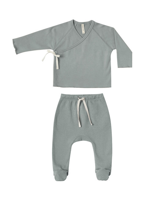 Quincy Mae - QM Quincy Mae Kimono Top + Footed Pant Set