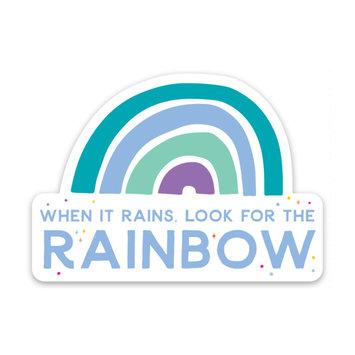 Gus and Ruby Letterpress When it rains - die cut sticker