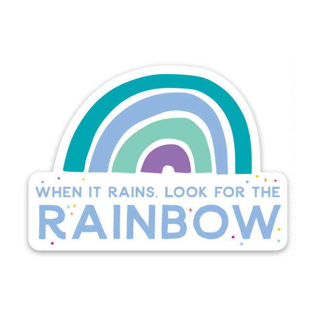 Gus and Ruby Letterpress - GR When it rains - die cut sticker