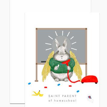 Dear Hancock - DH Saint Parent of Homeschool Card
