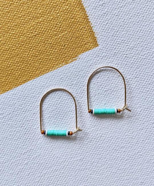 Alice Rise - ALR Little Keyhoop No.1 Beaded Earrings