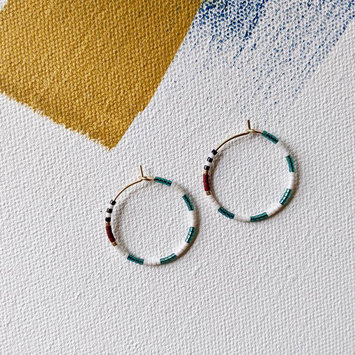 Alice Rise Baltic Midi Colorloop Beaded Earrings