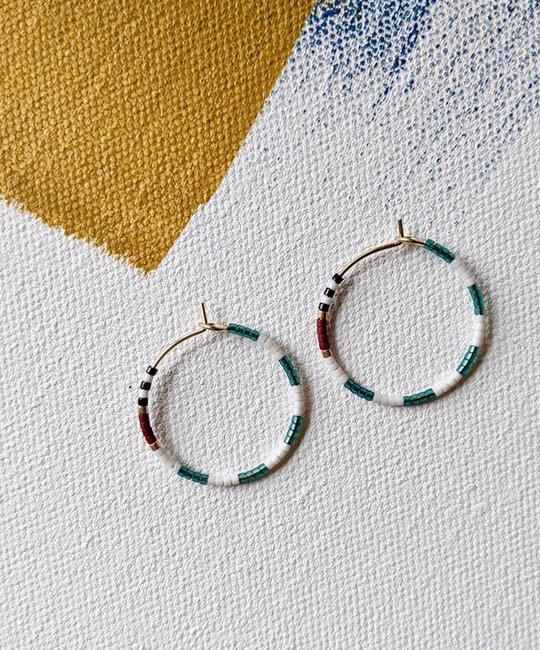 Alice Rise Baltic Midi Colorloop Beaded Earrings