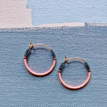 Alice Rise - ALR Electric Poppy Midi Colorloop Beaded Earrings