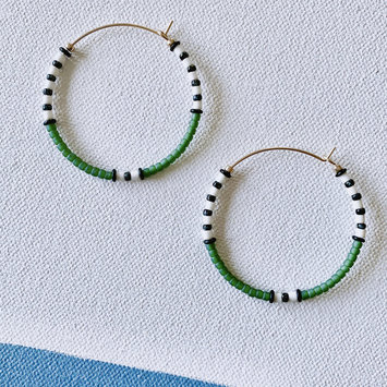 Alice Rise - ALR Emerald Big Colorloop Beaded Earrings