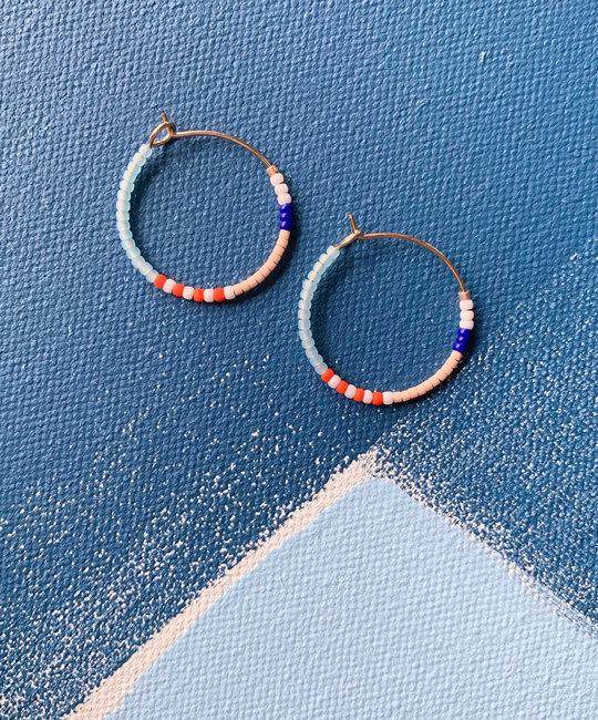 Alice Rise - ALR Popcorn Midi Colorloop Beaded Earrings