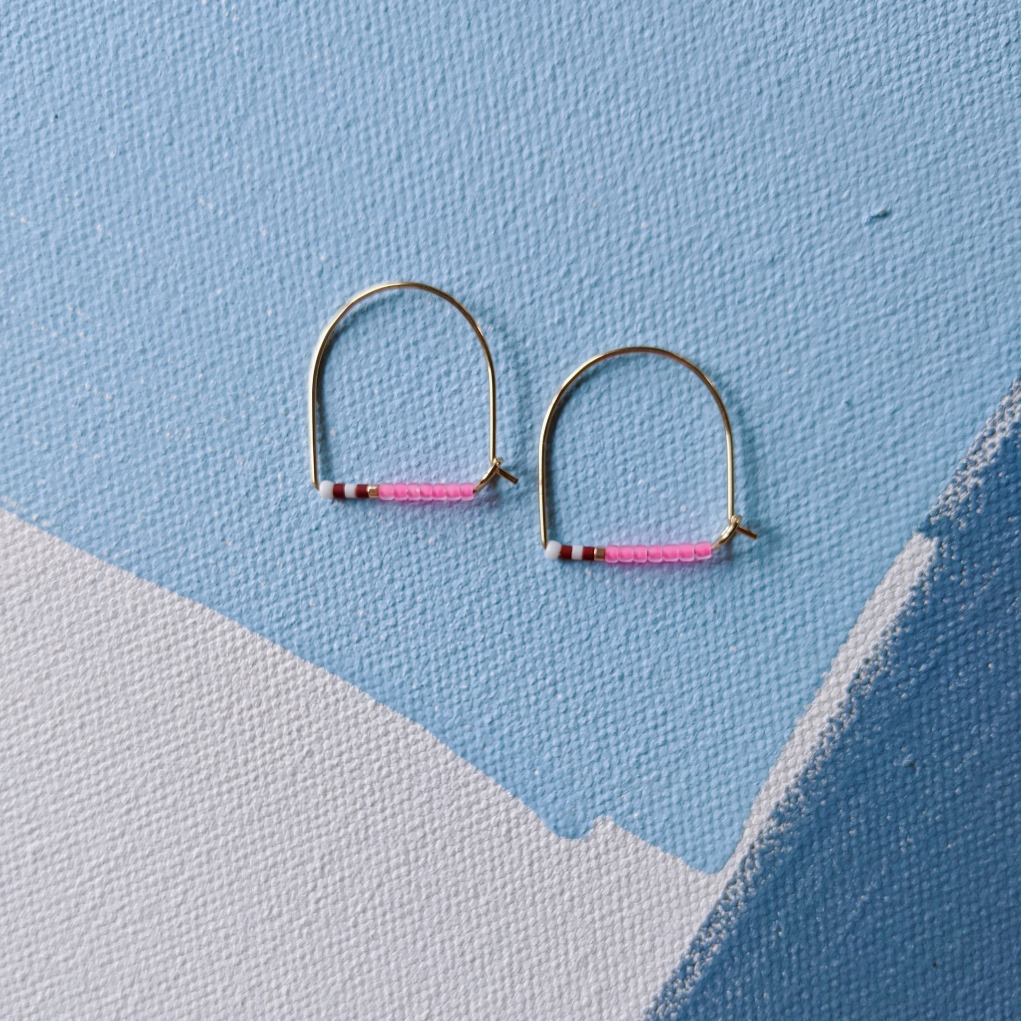 Alice Rise Little Keyhoop No.4 Beaded Earrings