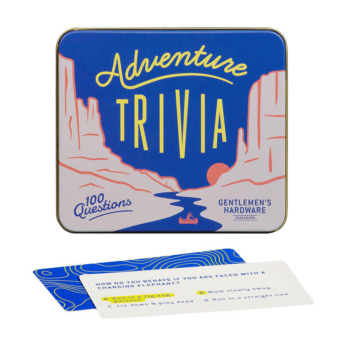 Wild and Wolf Adventure Trivia Game Tin