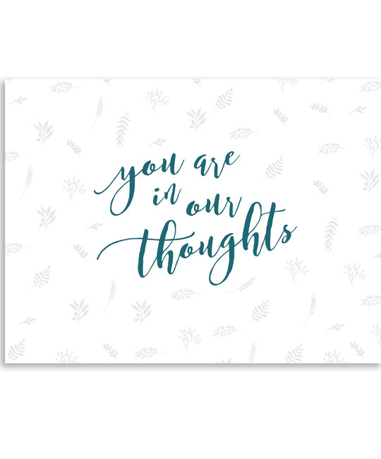 Gus and Ruby Letterpress - GR Gus & Ruby - You Are in Our Thoughts