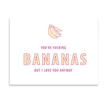 Gus and Ruby Letterpress - GR Gus & Ruby - Bananas