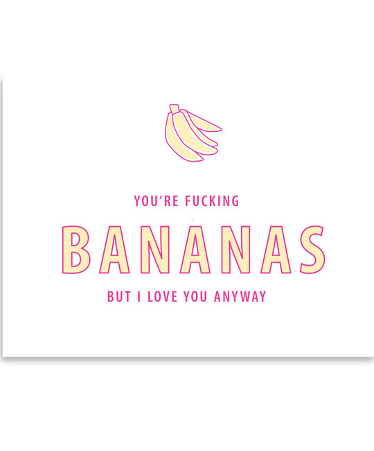 Gus and Ruby Letterpress - GR Gus & Ruby - Bananas
